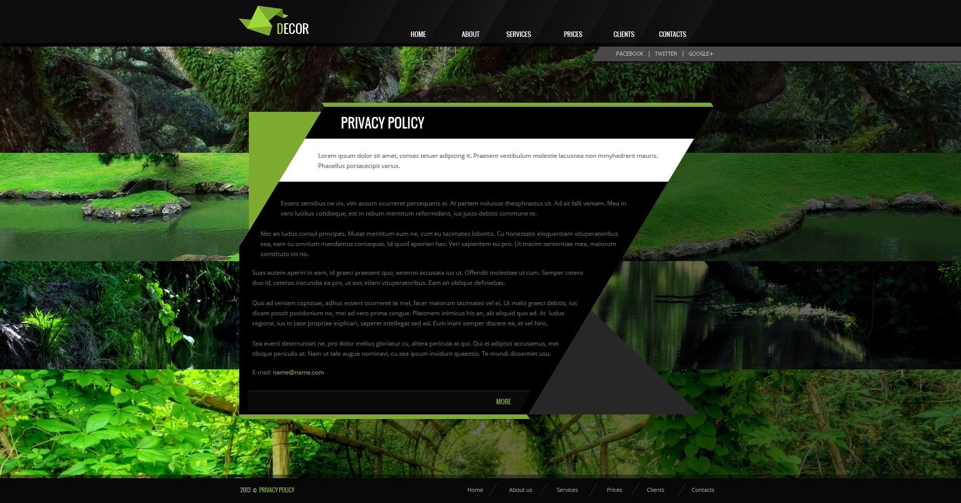 Decor - Creative PSD Template