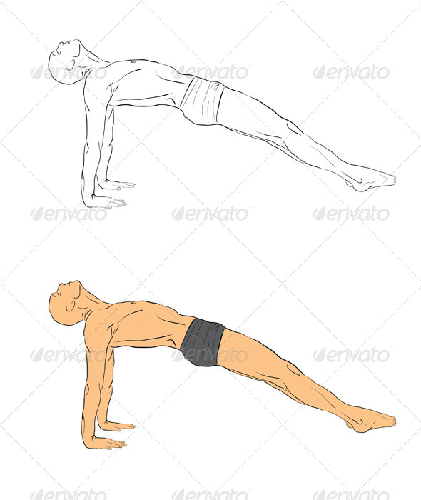 GraphicRiver Yoga Position 4392369