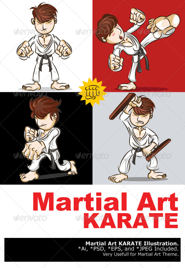 GraphicRiver Martial Art Karate 4392700