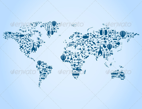 Transport map - Stock Photo - Images