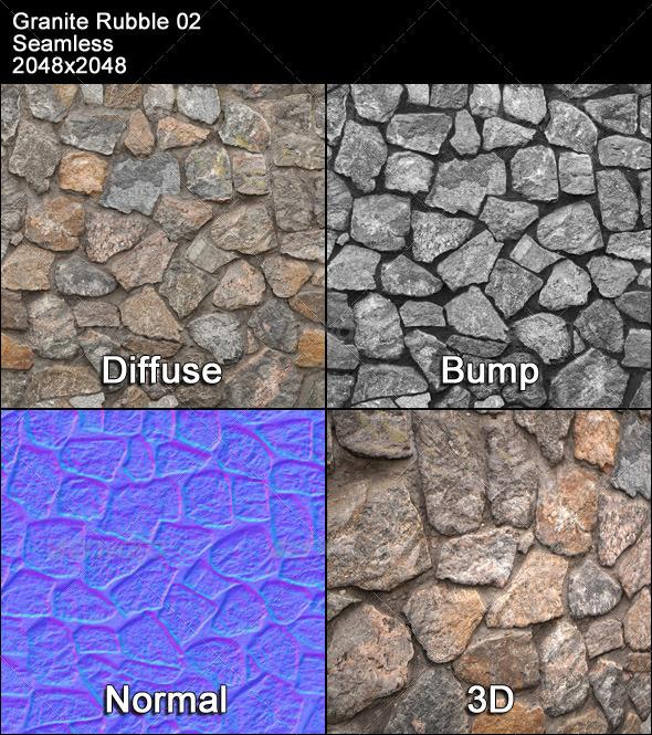 Granite Rubble Texture Tileable 02 - 3DOcean Item for Sale