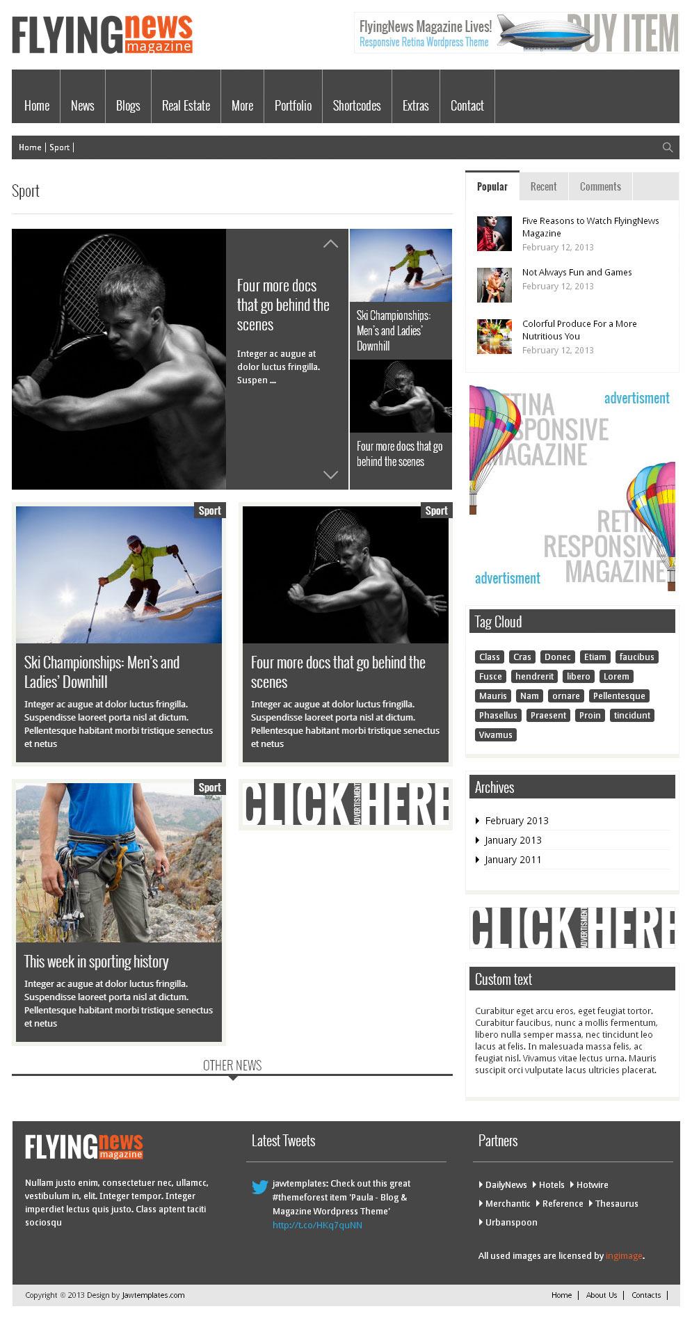 FlyingNews Responsive WordPress Magazine