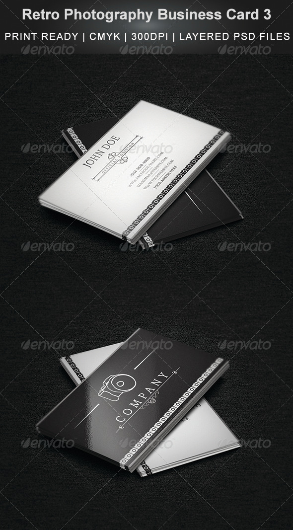 GraphicRiver Retro Photography Business Card 3 4393839