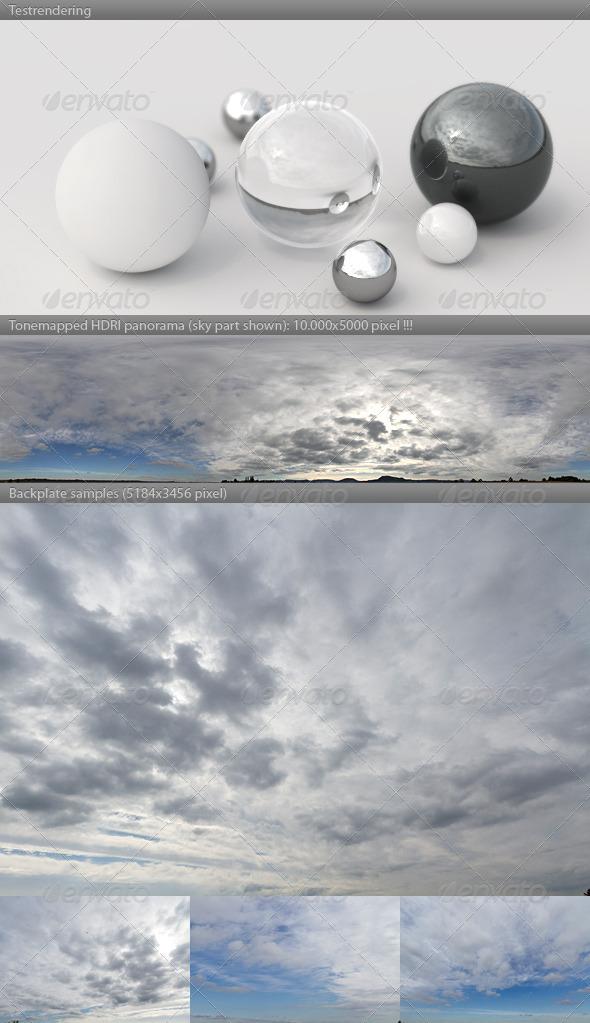 3DOcean HDRI spherical sky panorama 1306- cloudy winter 4394104