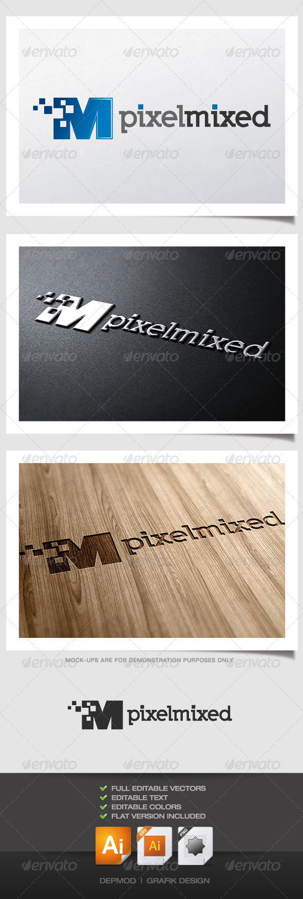 GraphicRiver Pixel Mixed Logo 4320544