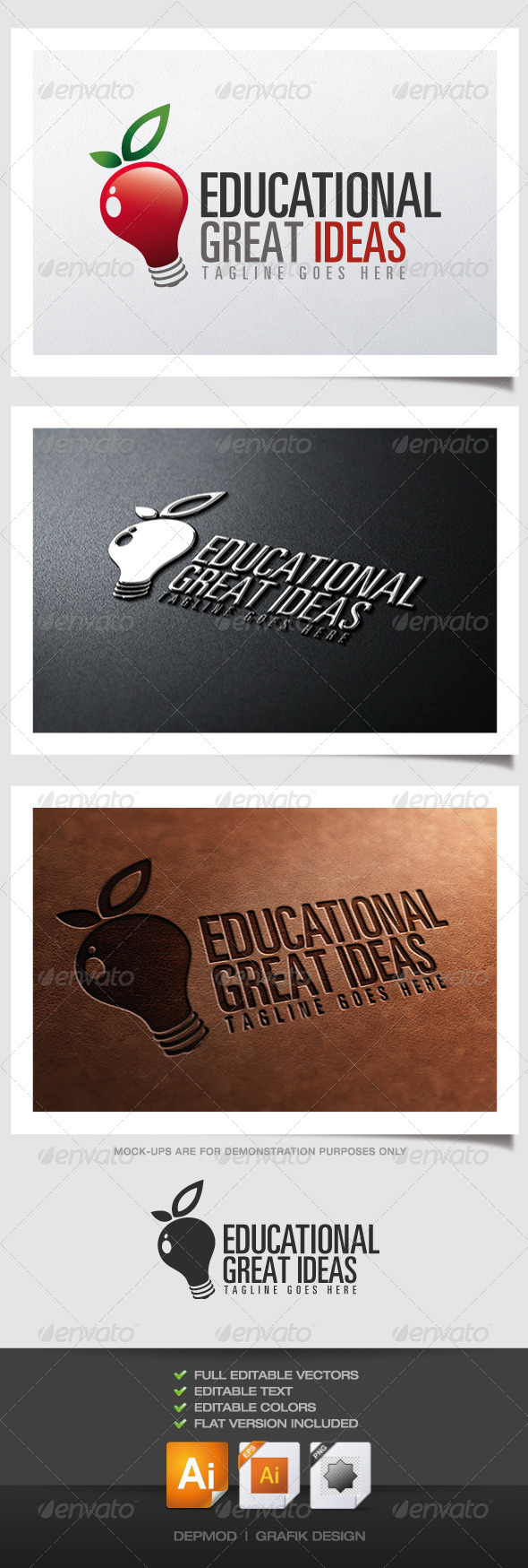 GraphicRiver Educational Great Ideas Logo 4320619