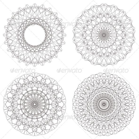 GraphicRiver Set of Vector Guilloche Rosettes 4395669