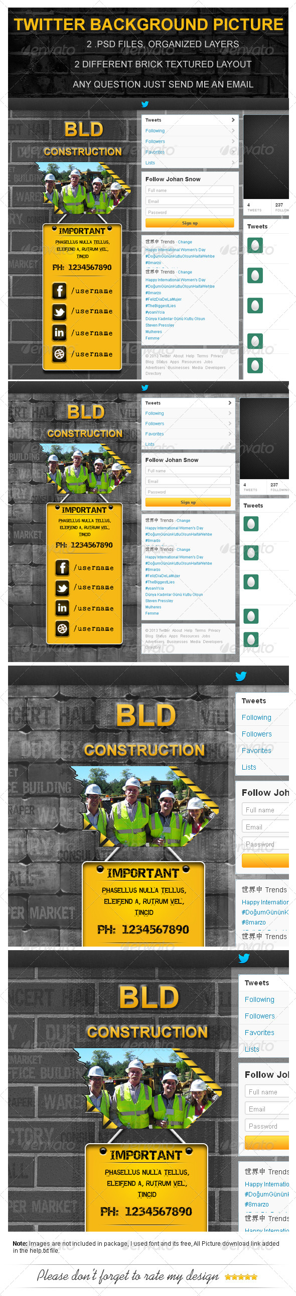 GraphicRiver Building Construction Twitter Background Picture 4395731