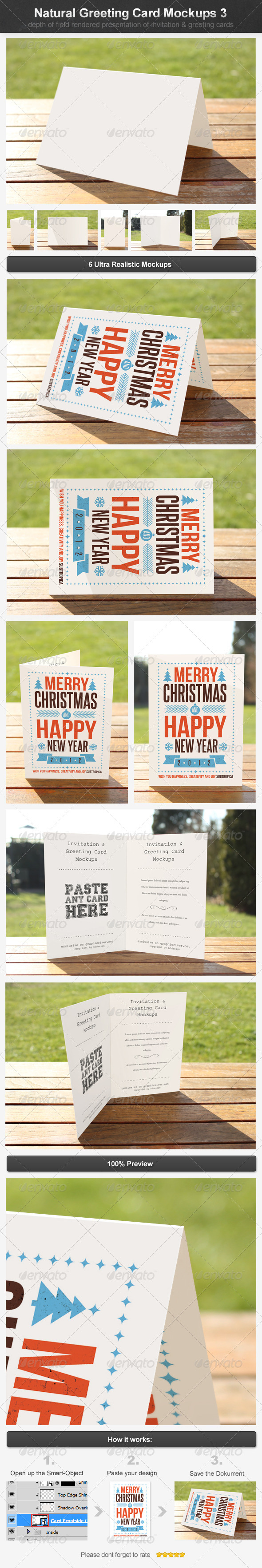 GraphicRiver Natural Greeting Card Mockups 3 4395802