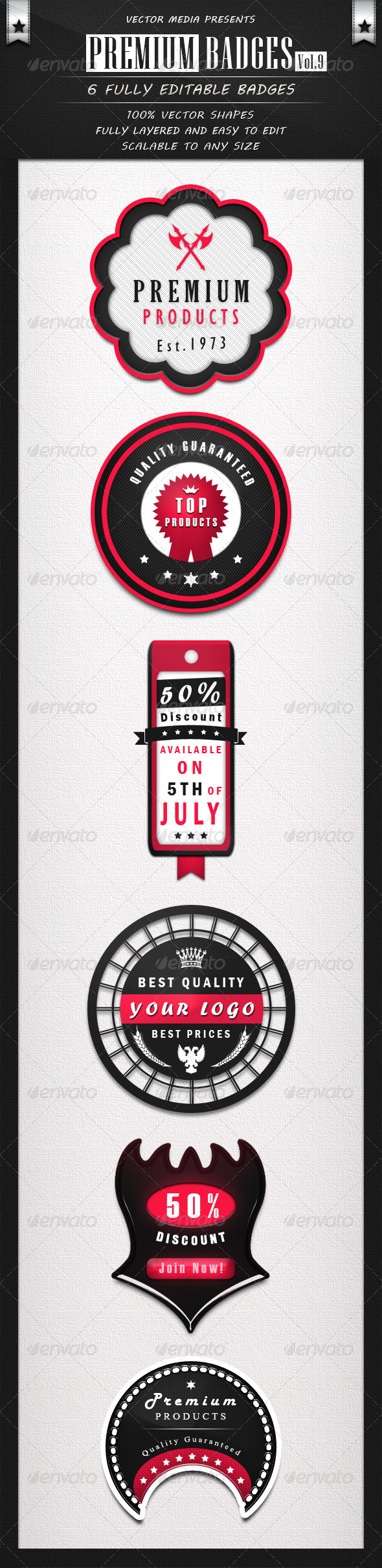 GraphicRiver Premium Badges Vol.9 4361671