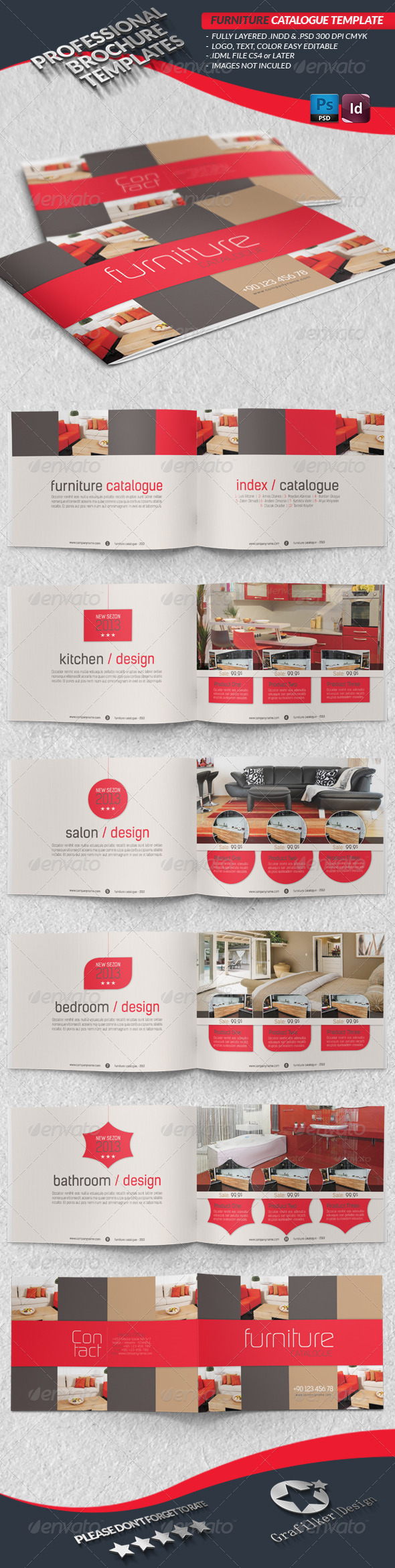 GraphicRiver Furniture Catalogue Template 4396096