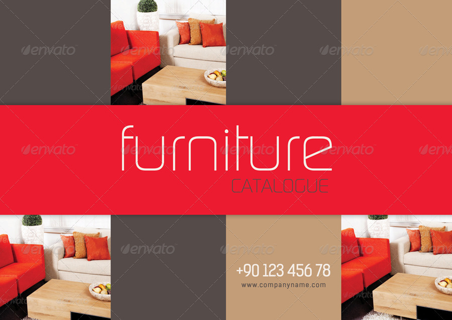 furniture catalogue template by grafilker graphicriver. Black Bedroom Furniture Sets. Home Design Ideas