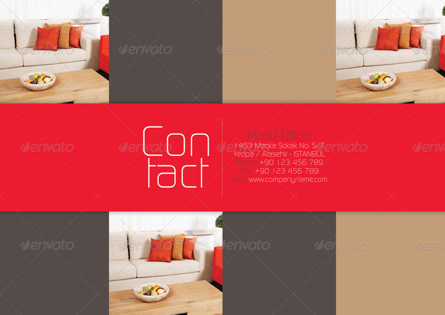 Furniture Catalogue Template By Grafilker Graphicriver