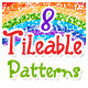 Tileable Wax Crayon Patterns - GraphicRiver Item for Sale