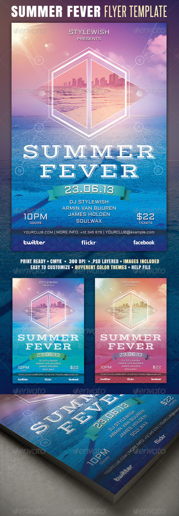 GraphicRiver Summer Fever Flyer 4396324