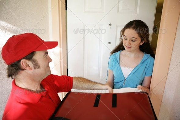 Stock Photo - PhotoDune Pizza Delivery at Home 472402