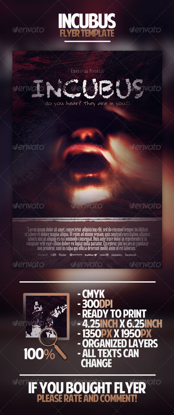 GraphicRiver Incubus Flyer Template 4396915