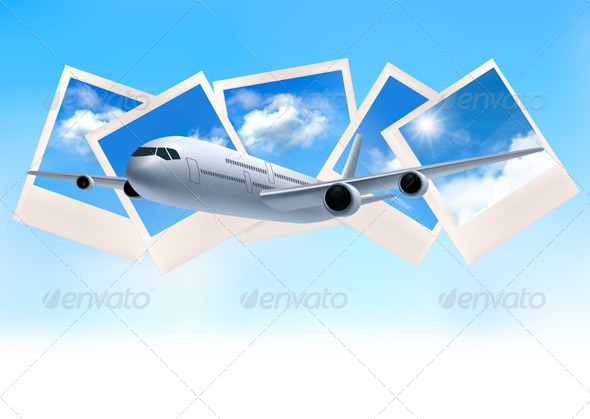 GraphicRiver Airplane and SKy Photos Background 4397340