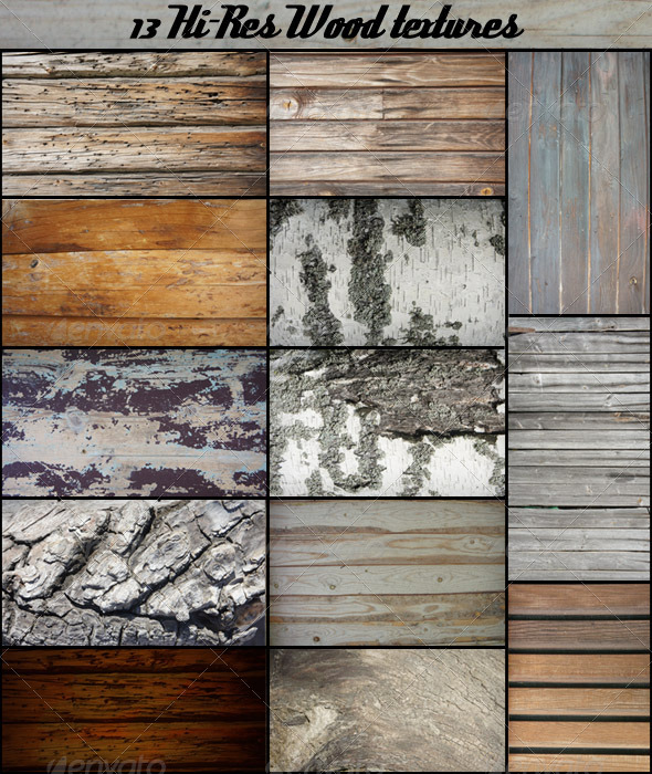 GraphicRiver 13 Wood Textures 4397343