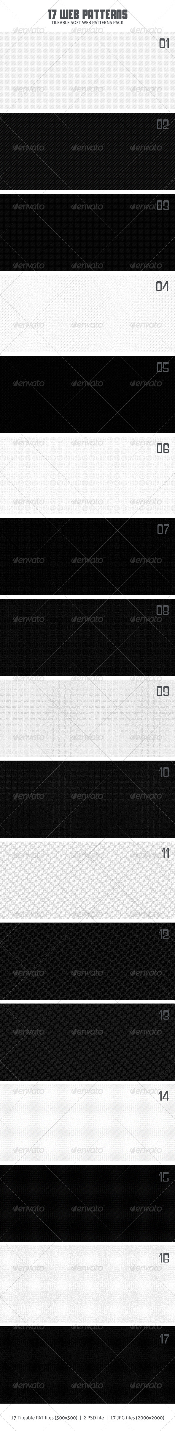 GraphicRiver 17 Web Patterns 4397430