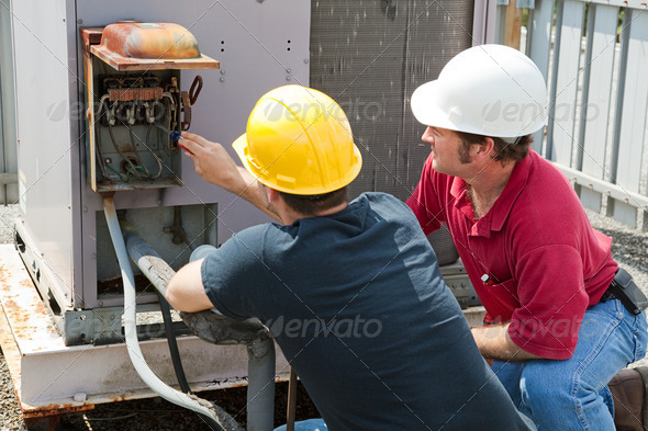 PhotoDune Repairing Industrial Air Conditioner 472454