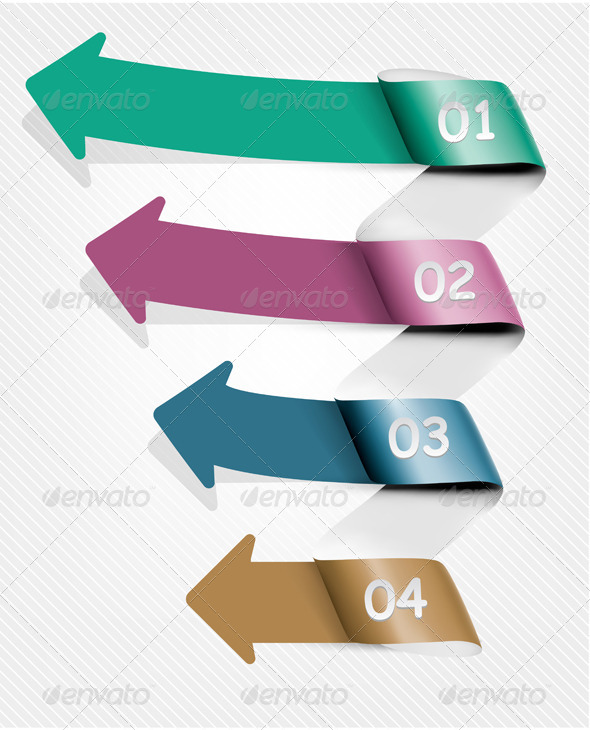 Info Graphic Banner Set with Numbers