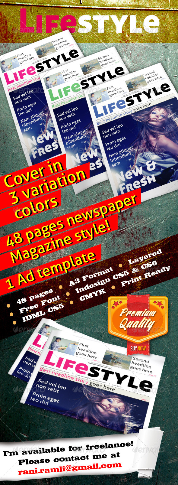 GraphicRiver Lifestyle Newspaper 4398019