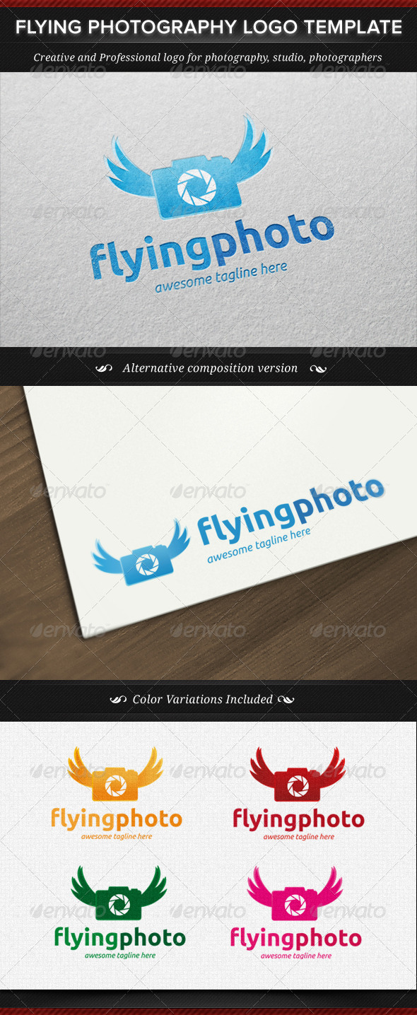 GraphicRiver Flying Photography Logo Template 4398025