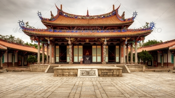 Taipei Confucius Templea - Stock Photo - Images