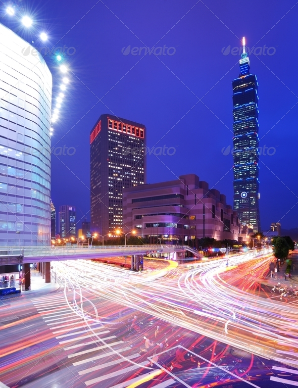 Taipei Cityscape - Stock Photo - Images