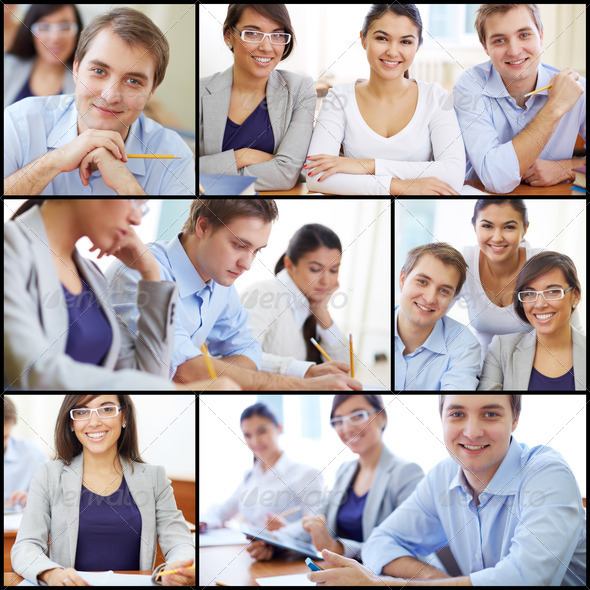 Smart students - Stock Photo - Images