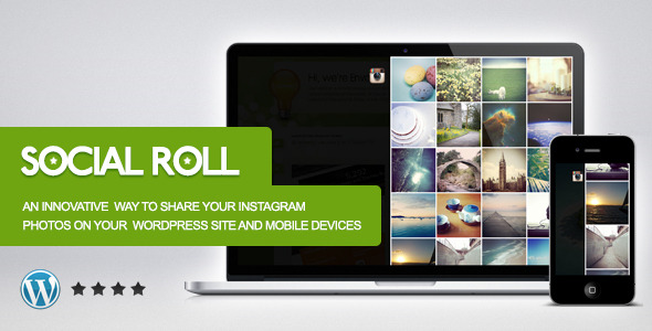 CodeCanyon Social Roll Instagram for WordPress 4310910