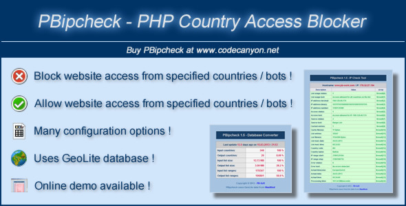 CodeCanyon PBipcheck PHP Country Access Blocker 4398950