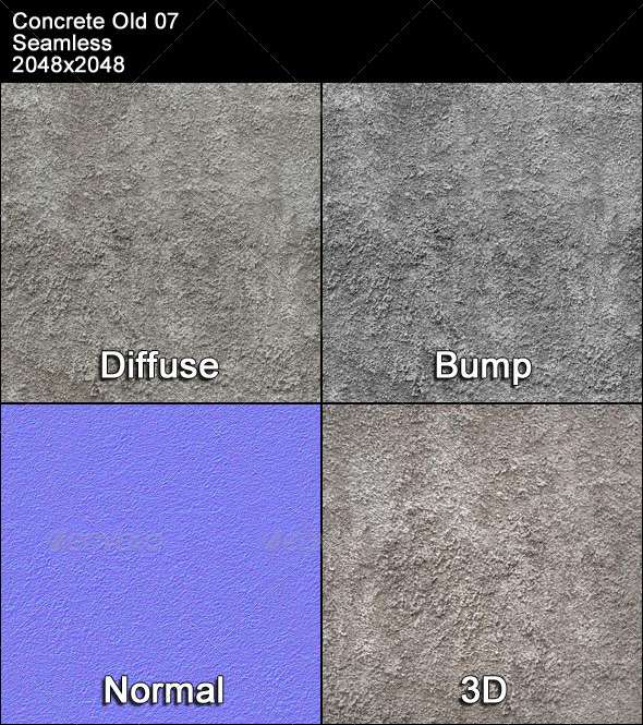 3DOcean Concrete Old 07 Tileable 4399170