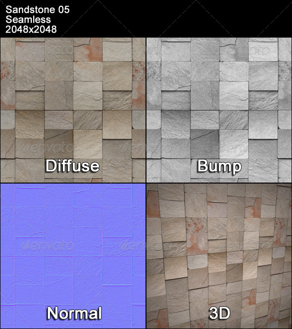 Sandstone Seamless Texture 05 - 3DOcean Item for Sale