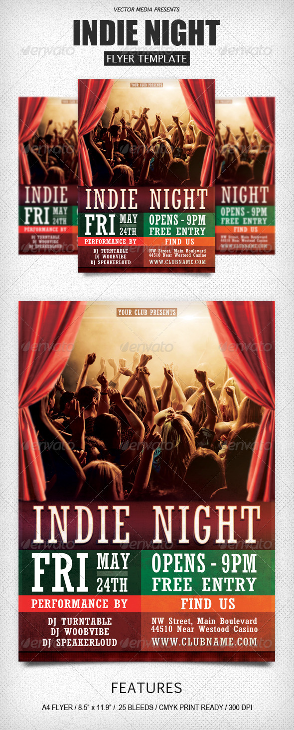 GraphicRiver Indie Night Flyer 4399426