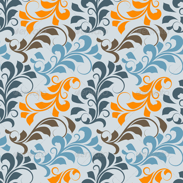 GraphicRiver Vector Seamless Floral Pattern 4399449
