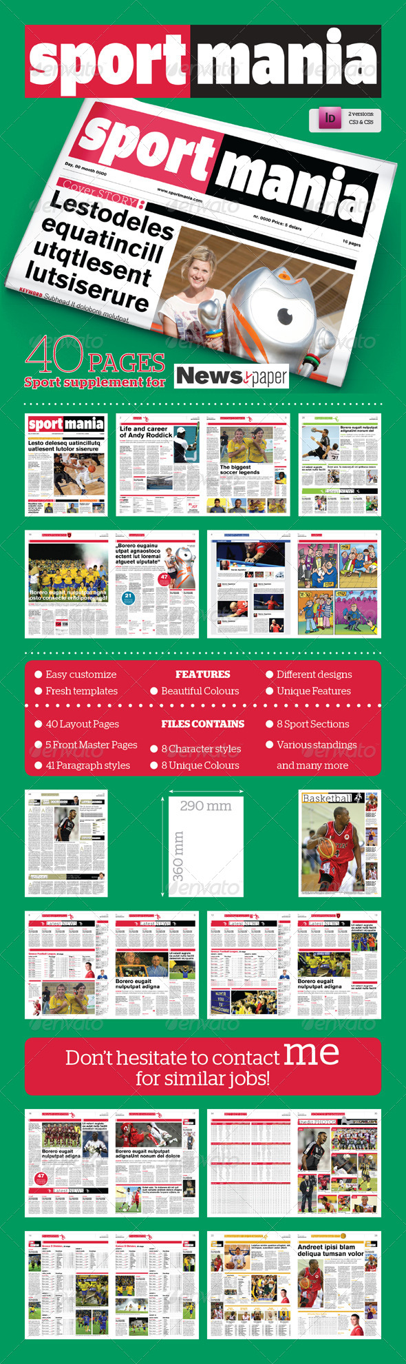GraphicRiver 40 Pages Sport Supplement For Newspaper 3797256