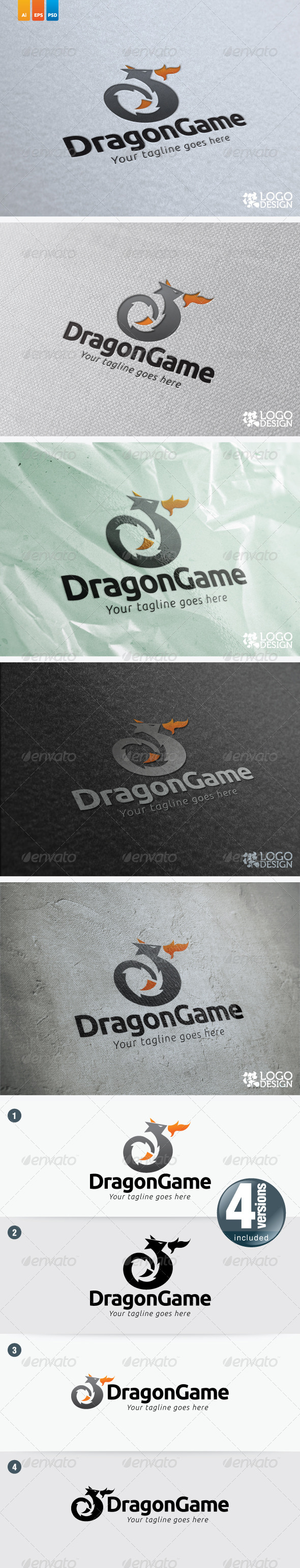 Dragon Game - Animals Logo Templates