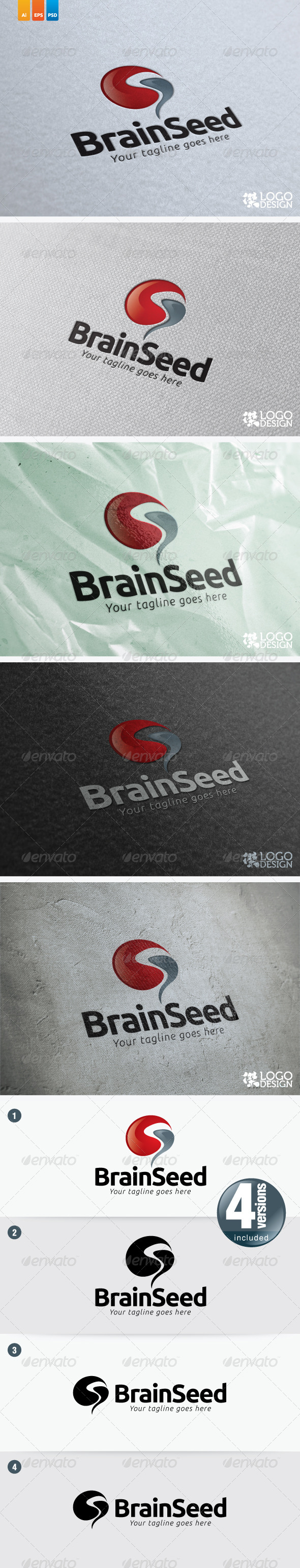 Brain Seed - Objects Logo Templates