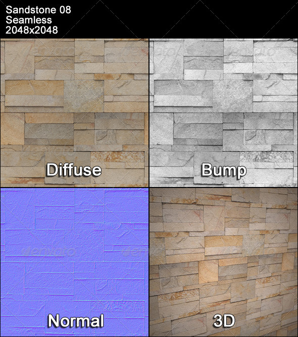 Sandstone Seamless Texture 08 - 3DOcean Item for Sale