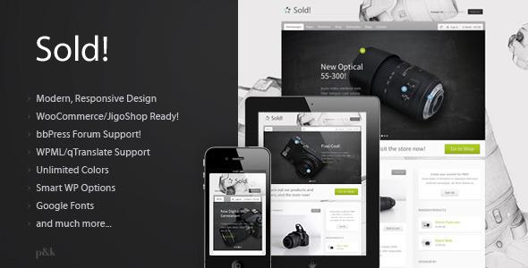 WordPress Sold! Responsive/E-Commerce Theme