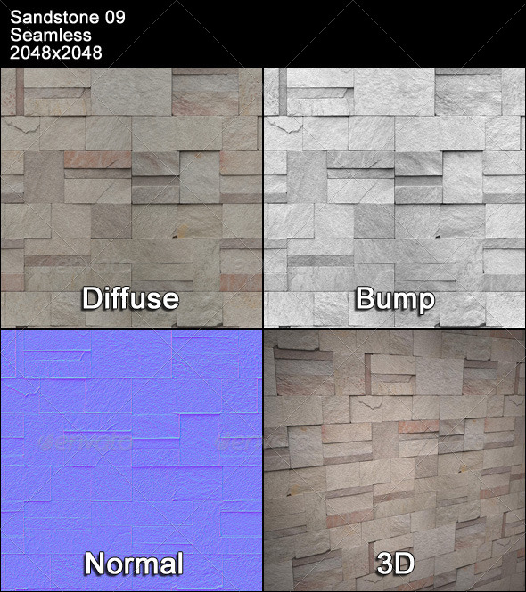 Sandstone Seamless Texture 09 - 3DOcean Item for Sale