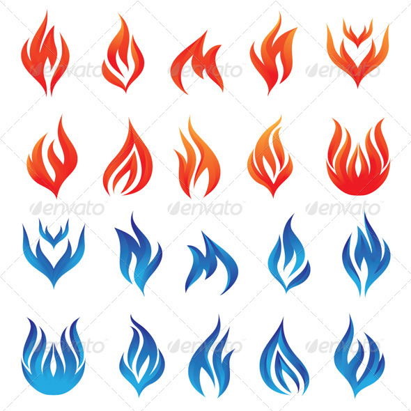 GraphicRiver Fire Vector Set 4399629