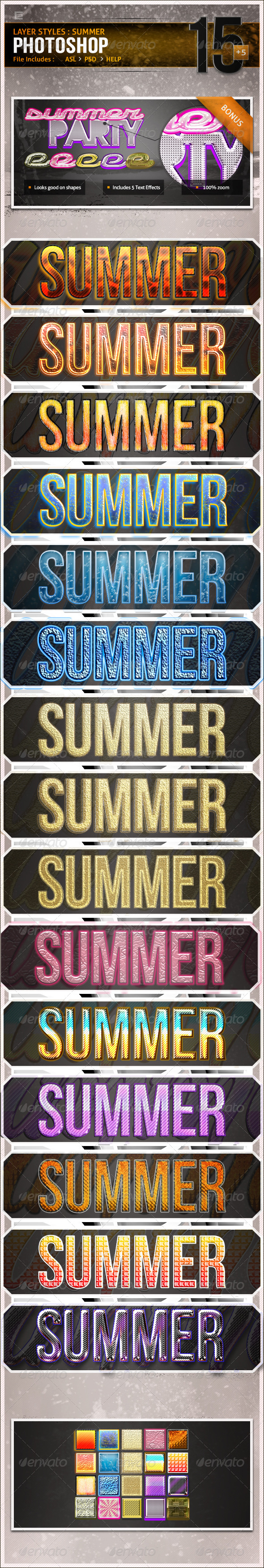 GraphicRiver Layer Styles Summer 4399662