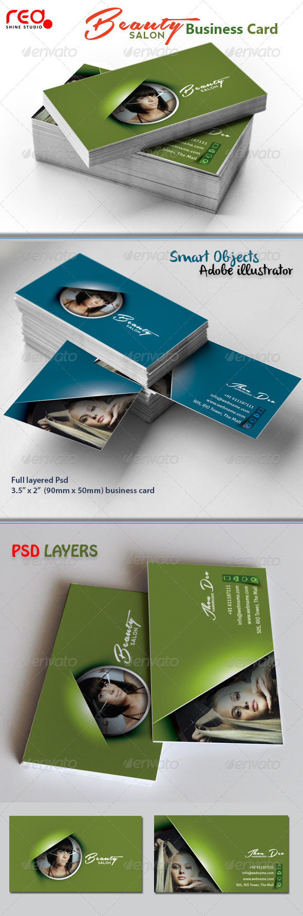 GraphicRiver Beauty Salon Business Card 4399828