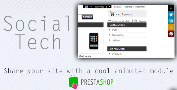 Social Tech Prestashop Module - CodeCanyon Item for Sale