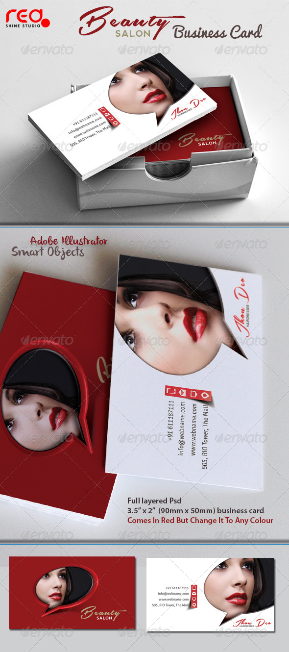 Fashion Beauty Salon Business Card - Industry Specific Business Cards