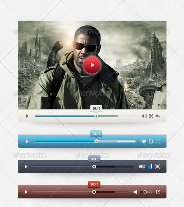 GraphicRiver Grey Video Player 4359434
