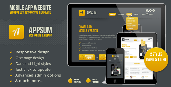 ThemeForest Appsum wordpress responsive template 4399863